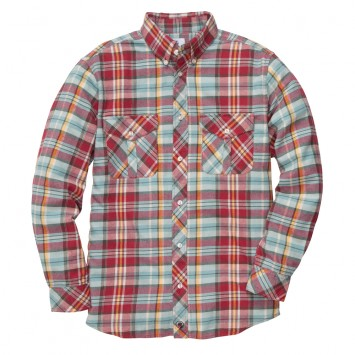 Field Flannel: Red/Turquoise
